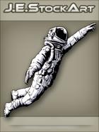 JEStockArt - Modern - Astronaut Reaching Upward - INB