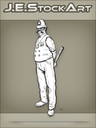 JEStockArt - Steampunk - Gaslight Bobby with Handlebar Moustache Wields Club - LNB