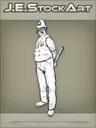 JEStockArt - Steampunk - Gaslight Bobby with Handlebar Moustache Wields Club - LNB