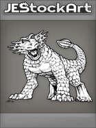 PWYW JEStockArt - Fantasy - Frilled Dinosaur Monster Inspired By The Chinasaur - INB