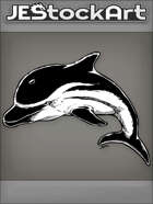 PWYW JEStockArt - Fantasy - Dark Dolphin With Black And White Stripes And Fins - INB