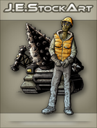JEStockArt - SciFi - Dark Skinned Heavy Equipment Operator - CNB