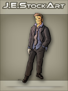 JEStockArt - Modern - Disheveled Man In Business Suit - CNB