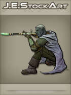 JEStockArt - Fantasy - Drow Assassin With Mystic Sniper Wand - CNB