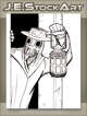 JEStockArt - MG00_NE_Fantasy - Plague Doctor With Lantern In Doorway - LWB