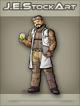 JEStockArt - Modern - Tattooed Scientist In Ripped Lab Coat - CNB