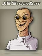 JEStockArt -  Modern - Scientist With Cleft Lip And Dark Glasses - CNB