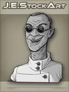 JEStockArt - Modern - Scientist With Cleft Lip And Dark Glasses - GNB