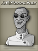 JEStockArt -  Modern - Scientist With Cleft Lip And Dark Glasses - GNB