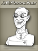 JEStockArt -  Modern - Scientist With Cleft Lip And Dark Glasses - LNB