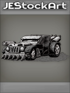 JEStockArt - PostA - Rugged Battle Car With Rotating Gun - GNB
