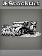JEStockArt - PostA - Rugged Battle Car With Rotating Gun - INB
