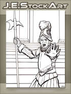 JEStockArt - Fantasy - French Guard Halting With Hand Raised - LWB