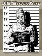 JEStockArt - Modern - Wounded Criminal Thug Mugshot - IWB