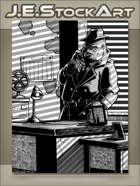 JEStockArt - Supernatural - Pulp Noir Gorilla Detective In Office - IWB
