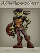 JEStockArt - Fantasy - Armed Goblin With Dagger And Shield - CNB