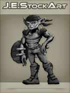 JEStockArt - Fantasy - Armed Goblin With Dagger And Shield - GNB