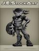 JEStockArt - Fantasy - Armed Goblin With Dagger And Shield - GNB