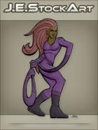JEStockArt - Supers - Elastic Heroine With Noose Arm - CNB