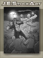 JEStockArt - Supernatural - Monster Hunter versus Vampire Horde - GWB