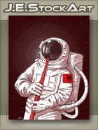 JEStockArt - SciFi - Astronaut in Suit Playing Flute - CNB