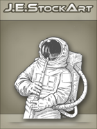 JEStockArt - SciFi - Astronaut in Suit Playing Flute - LNB
