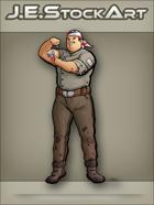 JEStockArt - Modern - Patriotic Engineer With Tattoo And Bandana - CNB