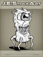 JEStockArt - Fantasy -  One Eyed Creature With Legs - LNB