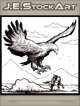 JEStockArt - Fantasy - Giant Bird Chasing Knight On Horse - LWB