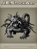 JEStockArt - Fantasy - Mutated Dragon With Insect Parts - GNB