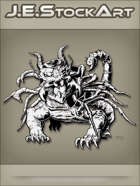 JEStockArt - Fantasy - Mutated Dragon With Insect Parts - INB