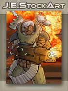 JEStockArt - SciFi - Juggernaut Gunner with Rockets and Mini Missiles - CWB