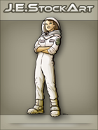 JEStockArt - Modern - Astronaut With Folded Arms In Suit - CNB