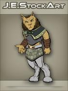 JEStockArt - SciFi - Aslan Feline Humanoid In Kilt - CNB