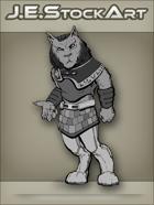 JEStockArt - SciFi - Aslan Feline Humanoid In Kilt - GNB