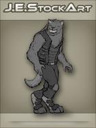 JEStockArt - SciFi - Vargr Wolf With Earring In Scout Jacket - GNB
