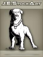 JEStockArt - Modern - Guard Dog With Spiked Collar - INB