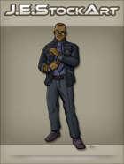 JEStockArt - Modern - Slick Black Man In Fancy Suit - CNB