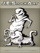 JEStockArt - Fantasy - MultiArmed Slug Lizard With Silly Grin - LNB