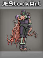 JEStockArt - Supers - Tentacled Humanoid Alien with Mask - CNB