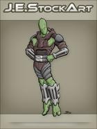 JEStockArt - Supers - Floating Alien in Heroic Pose - CNB