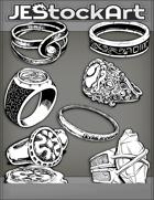 JEStockArt - Items - Assorted Decorative Rings 2019 - IWB