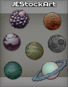 JEStockArt - SciFi - Various Planets 001 - Bundle
