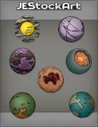 JEStockArt - SciFi - Various Planets 004 - Bundle