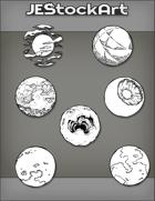JEStockArt - SciFi - Various Planets 004B - Bundle