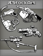 JEStockArt - Items - Assorted Powered Guns 2020A - Bundle