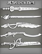 JEStockArt - Items - Assorted SciFi Swords 2020A - Bundle