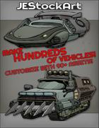 JEStockArt - Items - Create HUNDREDS of SciFi Vehicles - Color - Bundle