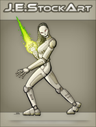 JEStockArt - Supers - Female Android with Energy Blade - CNB
