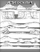 JEStockArt - SciFi - Various Landscapes 002B - Rocky - Bundle